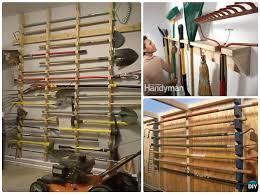 diy garden tool rack hanger organizer
