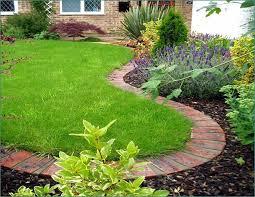 brick garden edging. concrete and bricks edging | garden for a knockout lawn in 11 practical ways brick