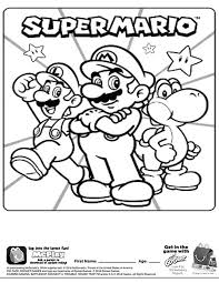 Printable Super Mario Coloring Pages For Kids