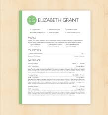 custom colors resume template cover letter template the resume template cv template the elizabeth grant by phdpress 16 00