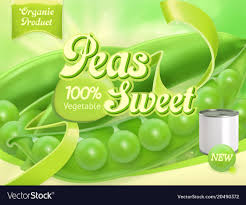 Pea Design Green Peas 3d Realistic Package Design
