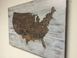 amusing us map wall art  for your decorative metal disc wall art