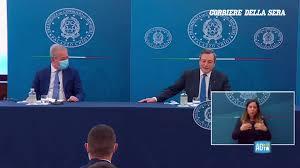 Corriere della Sera - La conferenza stampa di Mario Draghi sulle possibili  riaperture