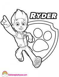 Paw Patrol Ryder Coloring Page Rainbow Playhouse Coloring Pages