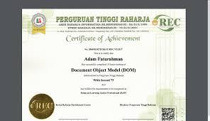 Sertifikat Pelatihan Why Project Sistem Verifikasi Sertifikat Online Cei