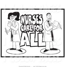 Vector Coloring Page Of Black And White Line Art Of A Pharmacist And