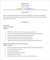 Resume Template For High School