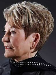 layered short pixie haircut for over 70