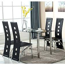 dining room set with leather chairs 5 piece gl dining table set 4 leather chairs kitchen