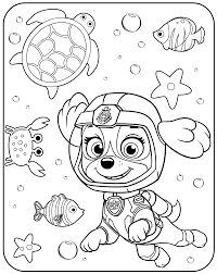 Small Picture Underwater PAW Patrol Coloring Pages Skye Get Coloring Pages