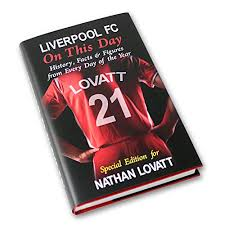personalised liverpool on this day book lfc football club gift present history