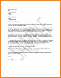 Example Termination Letters.sample Letter For Termination For Just ...