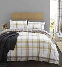 st lves check ocher duvet cover set with matching curtains duvet covers with pillow