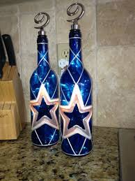 dallas cowboys wine bottle lamp by bottleoflights on 30 00 now all we