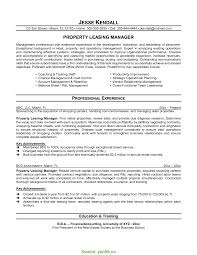 Leasing Manager Resume Sample Interesting Retail Leasing Manager Resume Leasing Consultant Resume 2