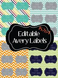labels 6 per page chevron polka dot stripes editable large avery labels 15264 6