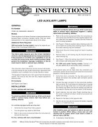 Harley Davidson Fog Lights Installation Instructions Led Auxiliary Lamps Harley Manualzz Com