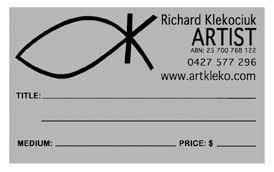 Labelling Art Labelling Your Artwork Artklekos Weblog
