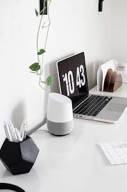 google home and office. Google-home-on-desk-3 Google Home And Office M