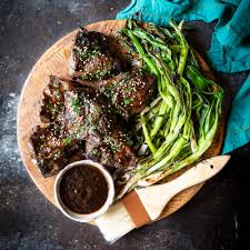 Korean Lamb Chops With Grilled Scallions Shared Appetite