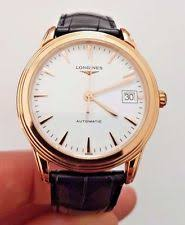 longines flagship wristwatches 18k rose gold longines flagship 36mm l4 774 8 22 2 automatic mens watch £2720