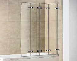 image of accordion shower door glass contemporary