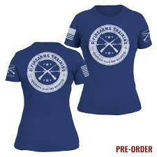 Womens Grunt Style T Shirt Blue White
