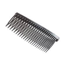 Silver Tone Stripe Rhinestone Plastic Black Hair Comb for Ladies ...