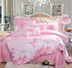 high quality duvet covers high quality pink flower and erfly print 4 piece duvet cover sets