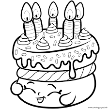 Small Picture cake wishes from shopkins Coloring pages Printable