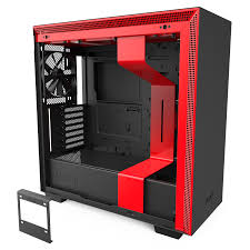 Red Pc Case Lighting Nzxt H710i Compact Atx Mid Tower Pc Gaming Case Tempered Glass Side Panel Integrated Rgb Lighting Matte Black Red