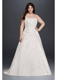 draped a line plus size strapless wedding dress david s bridal