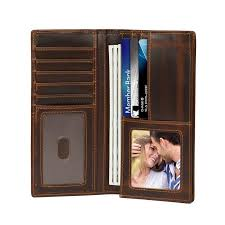 top full grain leather bifold wallet checkbook case 28 99 color brown brown dark coffee