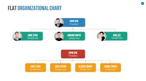 Flat Organizational Chart Template Organizational Chart And Hierarchy Keynote Template