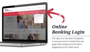 screenshot of the banking login area of the site