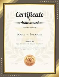 Formal Certificates Certificate Of Excellence Template Portrait Formal Certificates