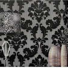 luxury classic damask wallpaper velvet non woven 3d embossed fl wall covering living room wallpaper for home wall decoration free phone wallpaper free