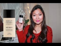 make up for ever mat velvet matifying foundation review and demo
