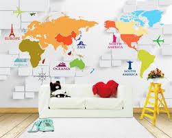 Beibehang Custom 3d Foto Behang Mural Wereldkaart Behang Keuken