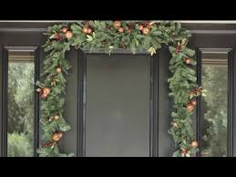 how to hang garland around front doorHanging a Balsam Hill Garland on a Door  YouTube