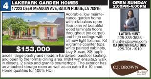 LAKEPARK GARDEN HOMES 17223 DEER MEADOW AVE, BATON ROUGE, LA 70816 -  Advocate Open Houses