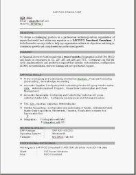 Fascinating Sap Mm Fresher Resume Format 25 About Remodel Resume Examples  With Sap Mm Fresher Resume