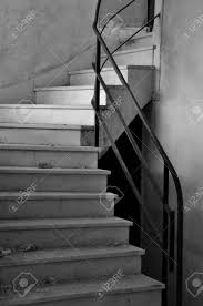 architectural detail photography. Dirty Marble Staircase In Abandoned Interior. Architectural Detail, Black And White. Stock Photo Detail Photography