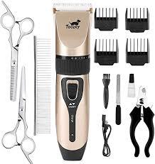 TOOZEY Silent Clipper <b>Dog Cat</b> for Thick/<b>Long</b>/Short/<b>Curly</b> Hair ...