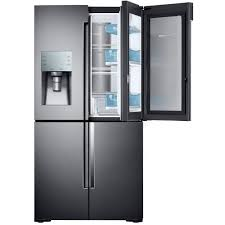 samsung 28 cu ft 4 door flex french door refrigerator in stainless steel rf28k9380sr the home depot