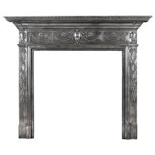 a 19th century polished cast iron fireplace mantel in the adam style 1