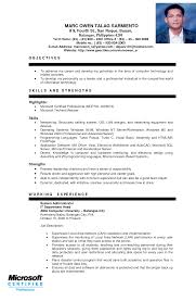 Sample Of Resume Example Of Resume For Ojt Business Students Resume Ixiplay Free 69