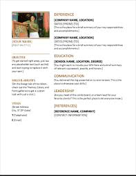 Professional Resume Word Template Best Of Resumes And Cover Letters Office