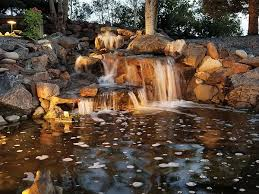 building water feature waterfalls for