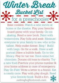 best winter breaks ideas holiday writing st printable winter break bucket list great activities to stop cabin fever and be even